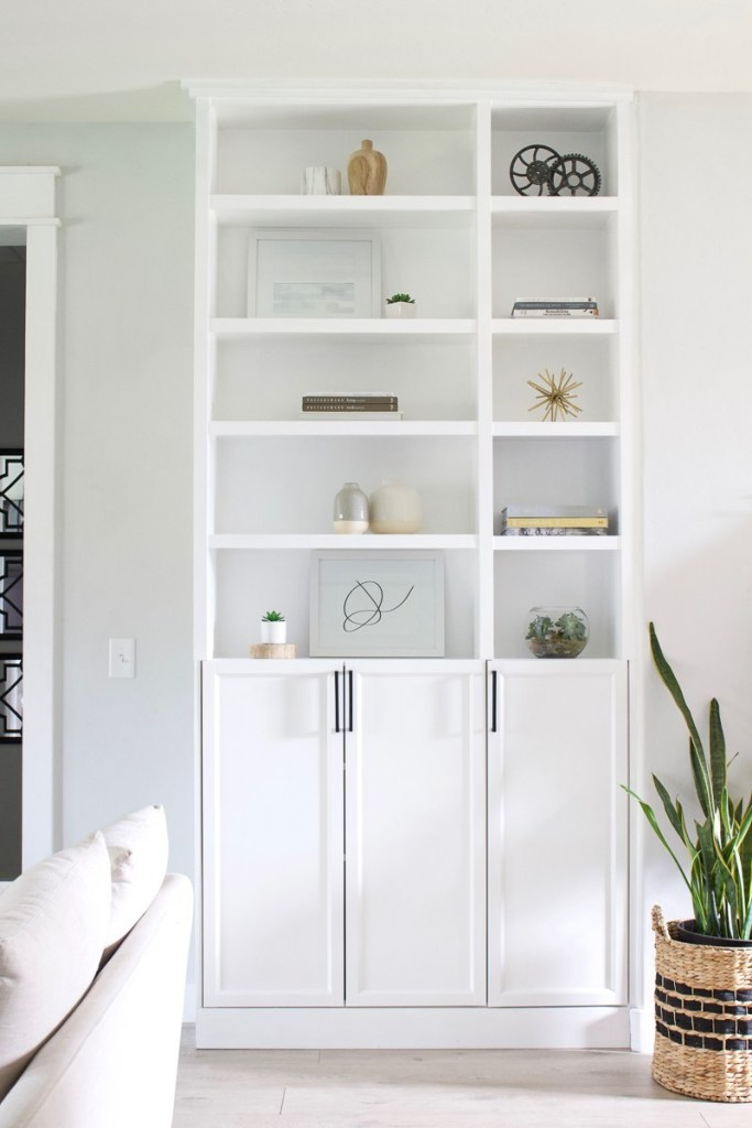 Simple IKEA built in storage hack