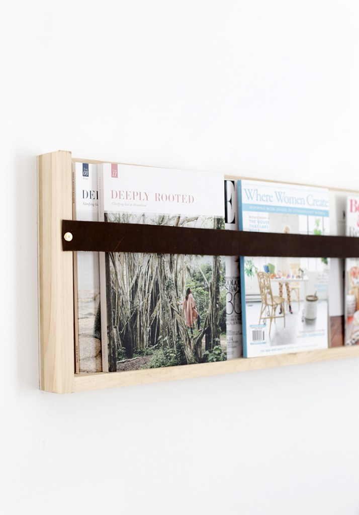 DIY Modern Magazine shelf