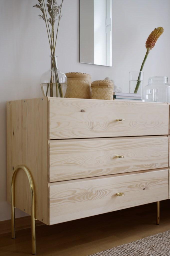 Understated glam IKEA bedroom dresser hack