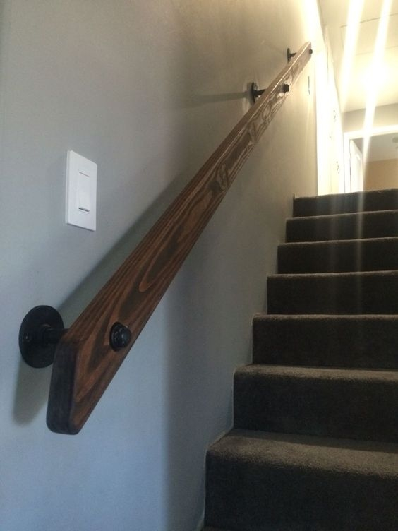 12 Best Stair Handrail Ideas For Home Interior Stairs   Rustic Stairs And Railings   Handrail   Custom   Design   Cabin   Interior
