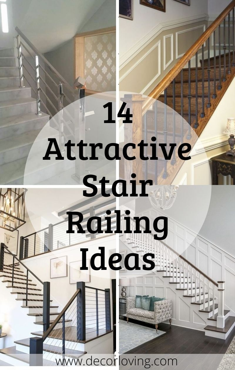 14 Attractive Stair Railing Ideas For Home Decor You Must Try   Home Stairs And Railings   Craftsman   Low Cost   Easy Diy   Inexpensive   Beautiful