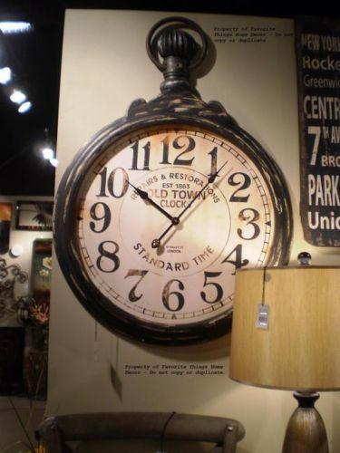 Clocks Decor Large Oversized Pocket Watch Style