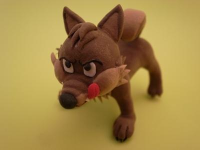 クレイクラフト 狼