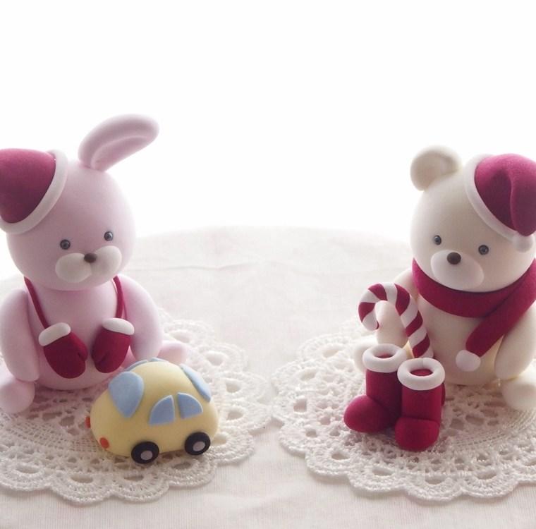 ウサギとクマのサンタクロース