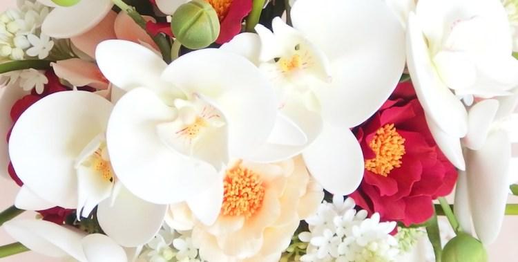 フラワーⅢ 胡蝶蘭のウェディングブーケ / クレイクラフト クレイフラワー
