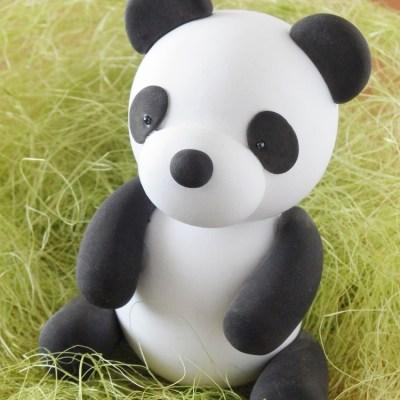 2017年 北九州市小倉の夏休み子供ねんど教室「粘土でつくる可愛いパンダ」