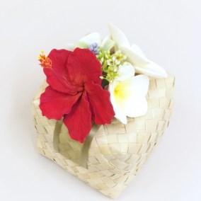 生徒さま作品 / ハイビスカスとプルメリアのボックスアレンジ / 北九州市小倉クレイクラフト教室 Clay Craft* Decorocca