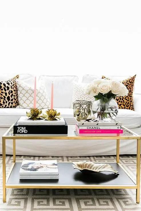 Ikea Vittsjo Table with Coffee Table Books: