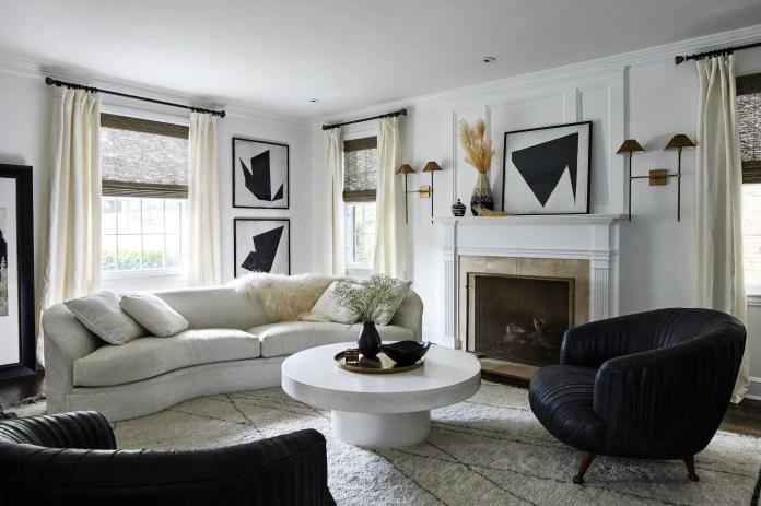 Designed living room with firework