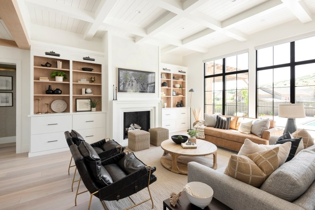 Living room with chairs and couch