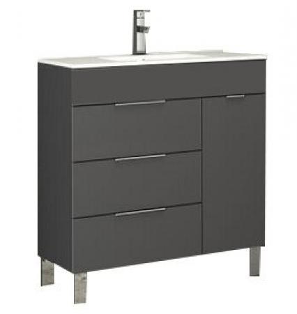 eviva geminis 28 grey modern bathroom vanity with white integrated porcelain sink