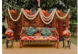 Mehendi Seating for Indian wedding decoration