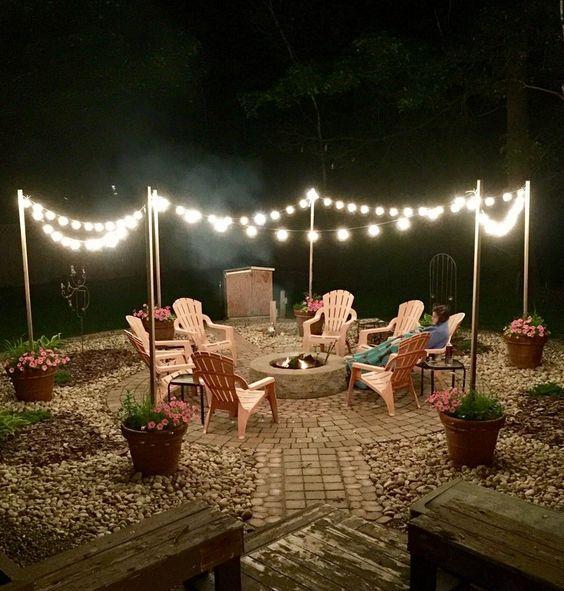 gorgeous backyard lighting ideas for