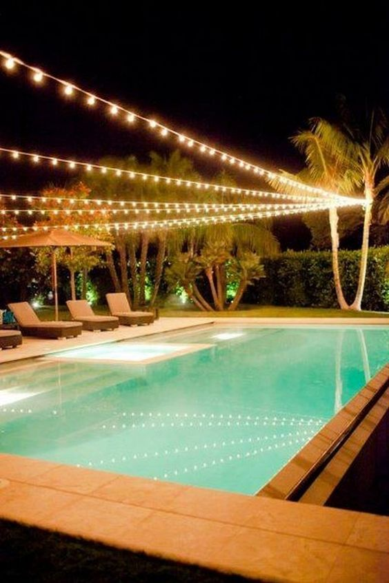 shining swimming pool lighting ideas to