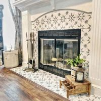 32+ An Impartial Perspective On Fireplace Makeover Tile Stencil 1