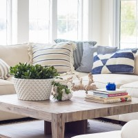 28+ The Basic Facts Of Lake House Blue And White Living Room Decor 3