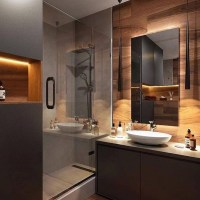 +42 Amazing Black Modern Bathroom Interior Design Answered