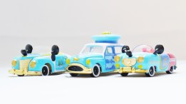 Tomica Tokyo Disney Sea 15th Anniversary - Mickey & Donald Vehicle Set - Full 3pc - 01