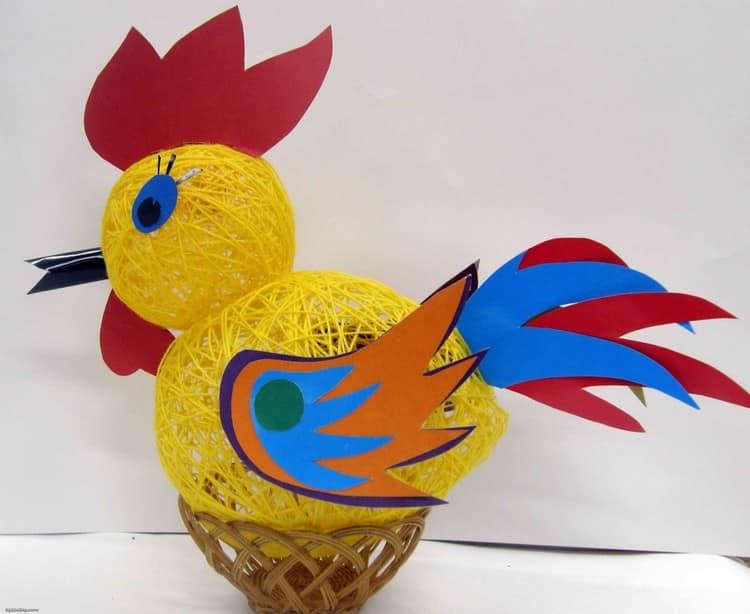 工艺品公鸡线和织物