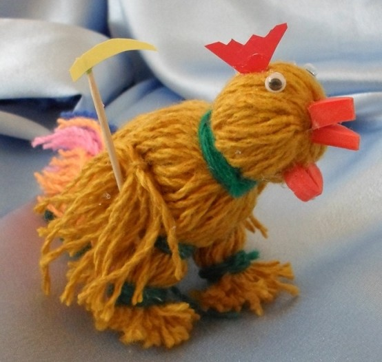 Mudah Rooster of Yarn - Kraftangan Kanak-kanak