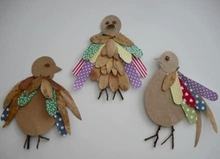Kami membuat dengan kanak-kanak: A Rooster daun, kadbod dan loskuts