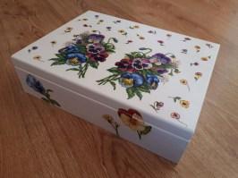 decoupage pudełko na biżuterię
