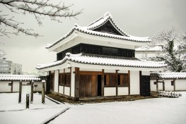 Matsue japon shimane hiver neige chateau tourelle neige yagura