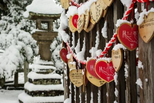 Matsue japon shimane hiver neige chateau ema jinja sanctuaire