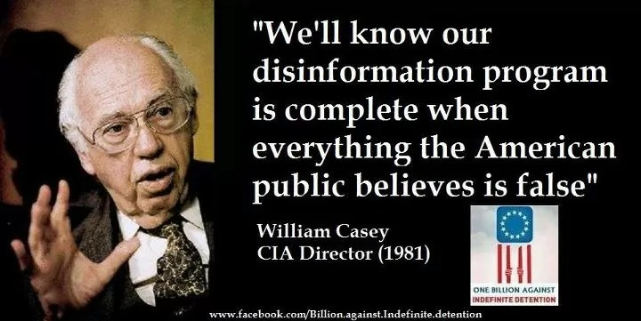 Image result for cia director quote disinformation