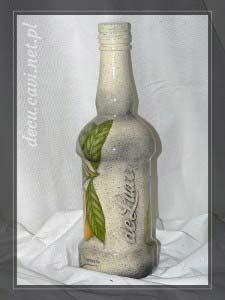 Butelka na nalewkę z cytrynami