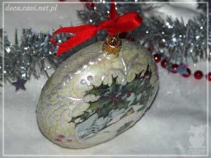 bombka medalion domek śnieg