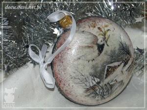 bombki choinkowe bombka medalion konturówka miki zima