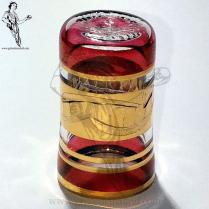 DEME05 Dedal Cristal Egipcio rojo flor oro