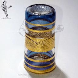 DEME08 Dedal Cristal Egipcio azul y oro