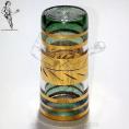 DEME09 Dedal Cristal Egipcio verde y oro