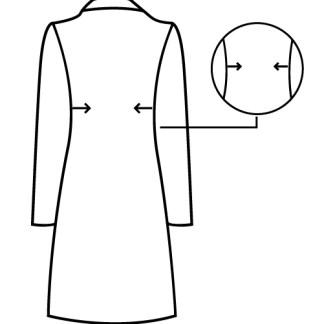 gabardine casaco comprido apertar lados