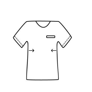 t-shirt polo apertar lados