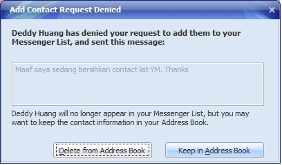 ps2 - How to Delete Contact from Yahoo Messenger
