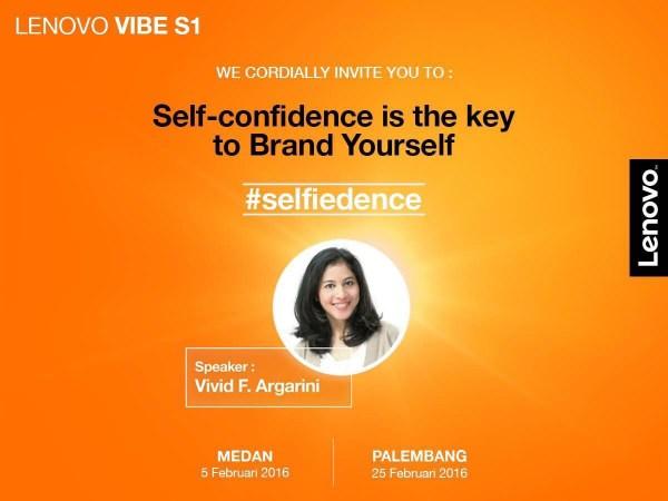 Malam Jumat Bersama Vivid F. Argarini dan Lenovo Vibe S1 Mengenai Selfiedence
