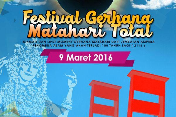 Ayo ke Palembang Nikmati Festival Gerhana Matahari Total 2016