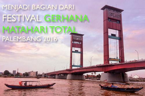 Gerhana Matahari Total di Jembatan Ampera Palembang