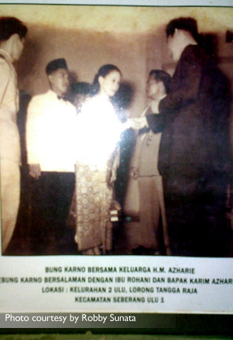 Foto didapat dari keturunan keluarga HM Azharie