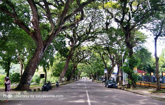 Sisi perkotaan jalanan di Sabang