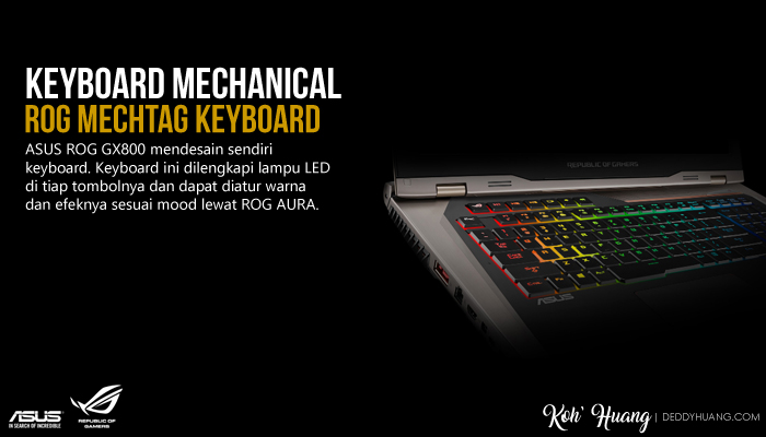 keyboard mechanical rog gx800