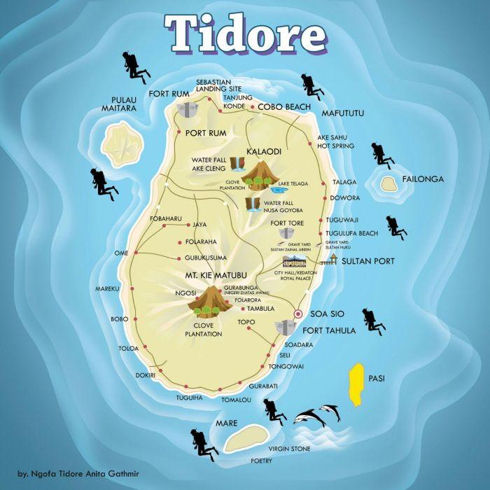 peta tidore1 - Agromarine, Solusi Infrastruktur Prioritas Jokowi Bagi Tidore