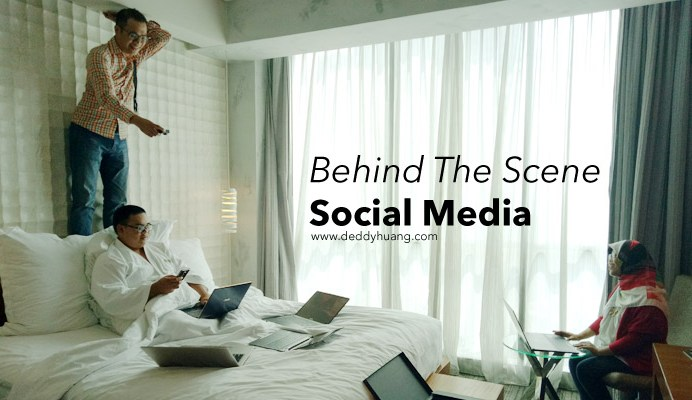 behind the scene social media