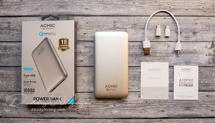 unboxing acmic a10pro - [REVIEW] ACMIC A10Pro 10000 mAh Quick Charge 3.0