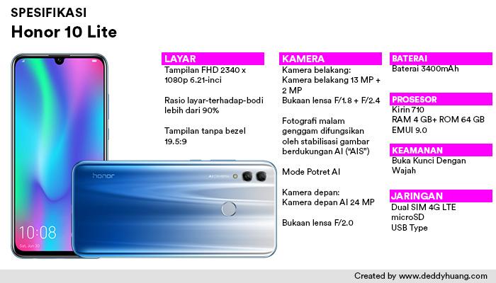 spesifikasi honor 10lite - Rekomendasi Smartphone Ramadhan Harga Murah