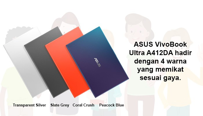warna ASUS VivoBook A412DA