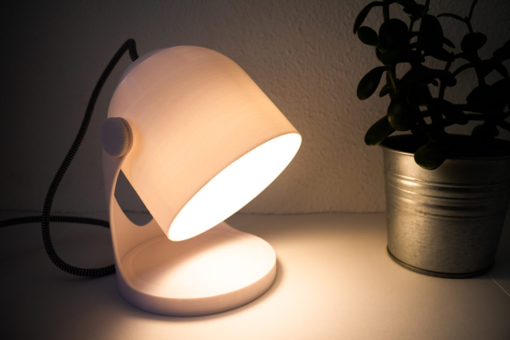 3d printable lamp-light on